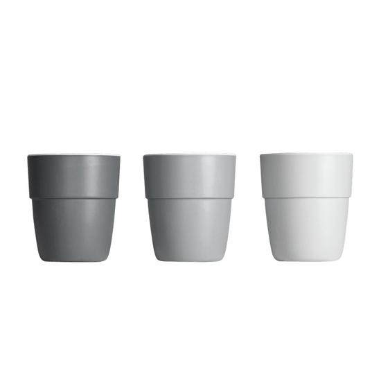 Set de 3 Mini vasos Yummy, Gris